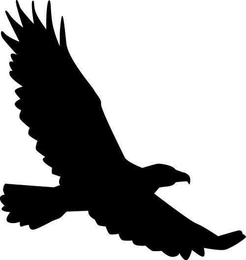 500x528 Bird Of Prey Clipart Flight Silhouette Clip Art
