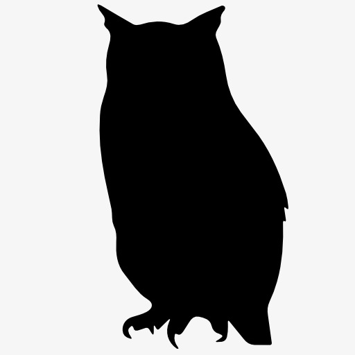 512x512 Owl Silhouette, Bird, Flight, Animal Png Image And Clipart