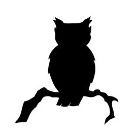 270x270 Owl Silhouette Stencil