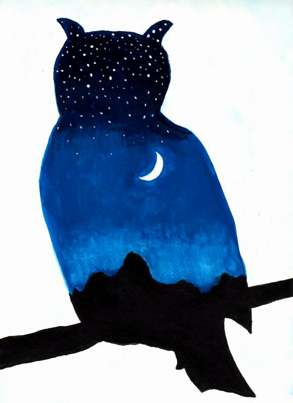 581x800 Owl Twilight Silhouette By Yve4882