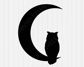 340x270 Owl Silhouette Decal Etsy