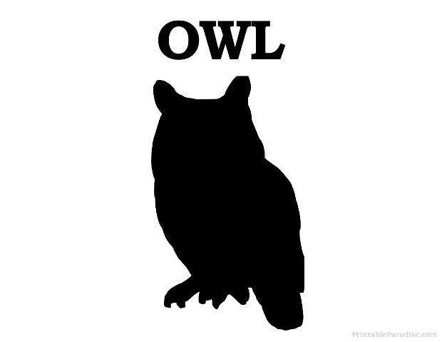 620x479 Printable Owl Silhouette