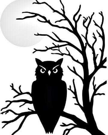 360x450 Halloween Owl Silhouette