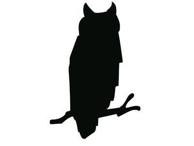 400x300 Owl Silhouete Owl Silhouette {Think I'M Picasso}