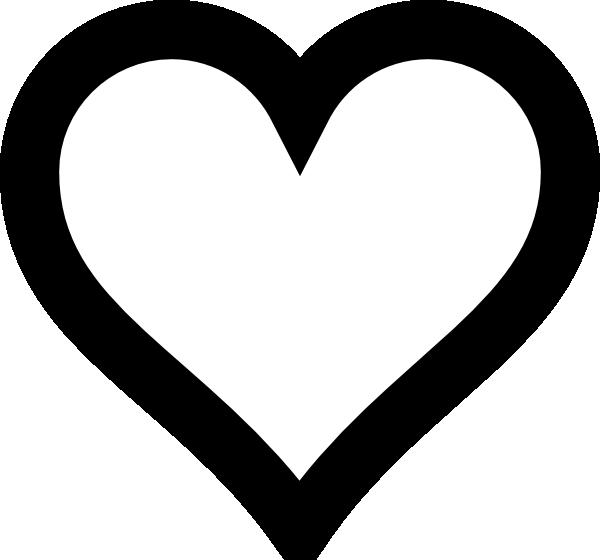 600x560 Plush Heart Outline Clip Art