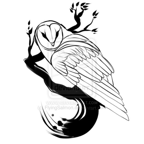 600x600 Barn Owl Clipart Outline