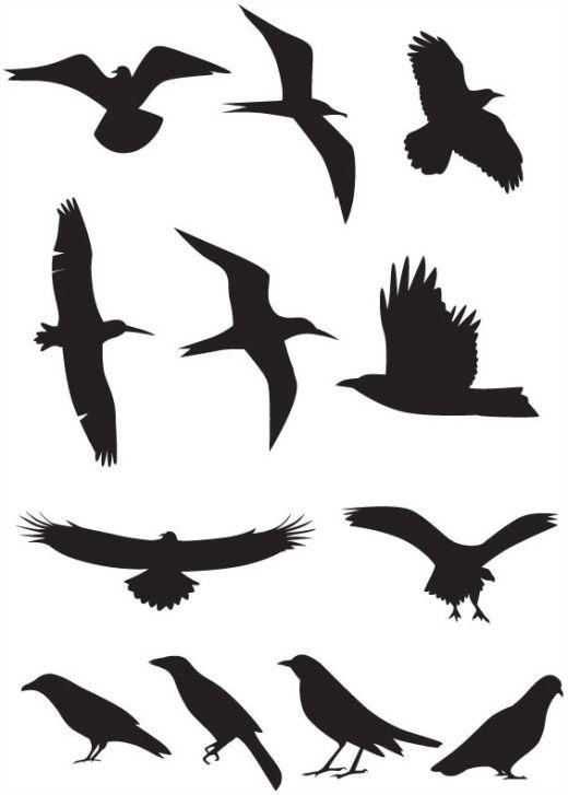 Owl Silhouette Tattoo