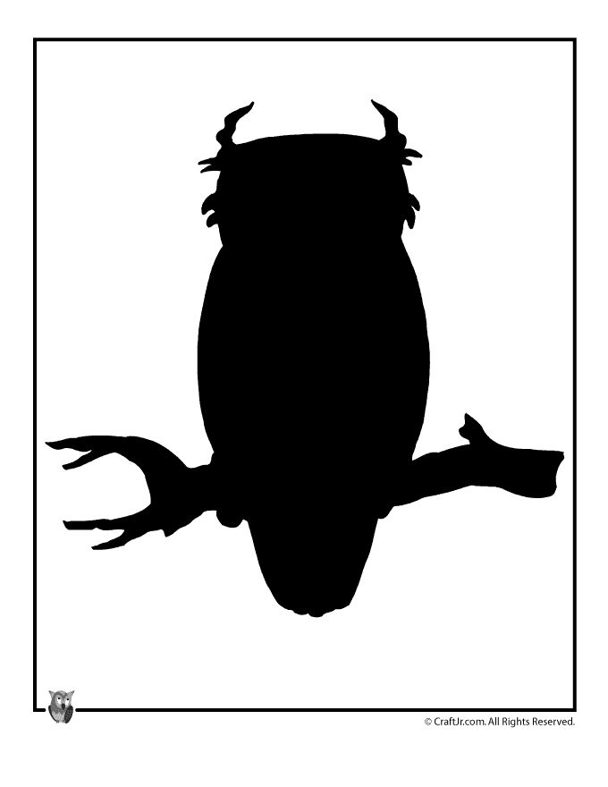 Owl Silhouette Template