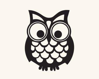 340x270 Cute Owl Svg Dxf Etsy