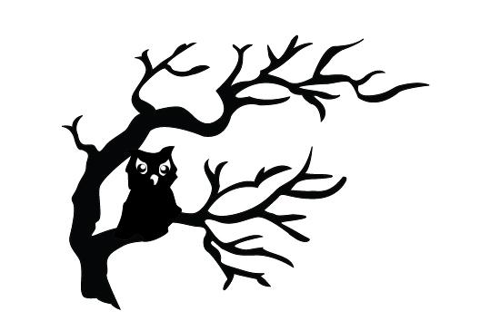 550x354 Halloween Owls Silhouette Vector Free Download Halloween Vector