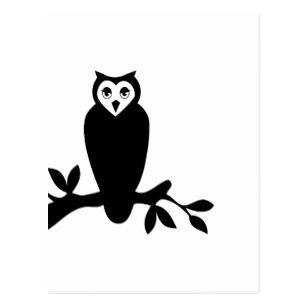 307x307 Owl Silhouette Postcards Zazzle