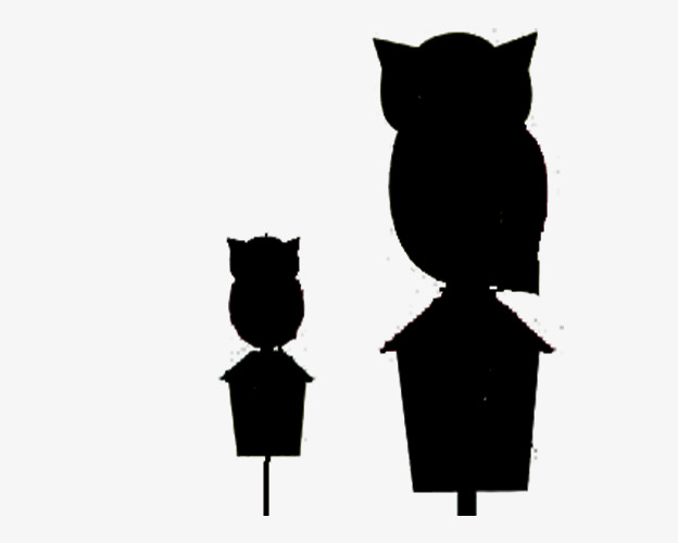 624x500 Black Owl Silhouette Material, Black, Owl, Sketch Png Image