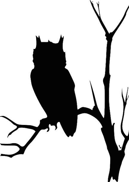 Owl Tree Silhouette at GetDrawings.com | Free for personal ...