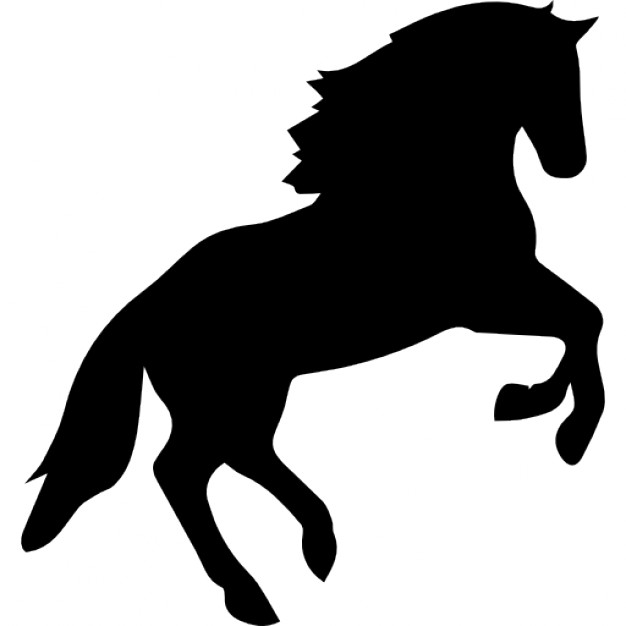 626x626 Horse Jumping Silhouette Icons Free Download