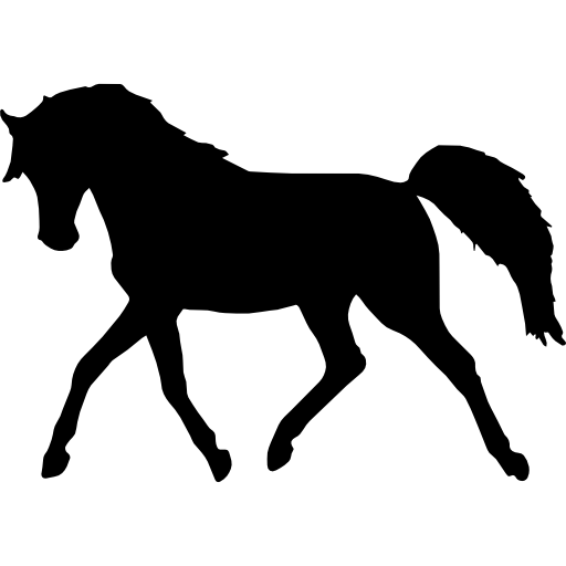 512x512 Silhouettes, Animal, Shape, Standing, Animals, Horses, Horse