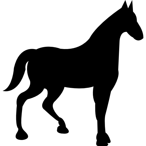 512x512 Horses, Horse Silhouette, Horse Variant, Right, Horse, Animals