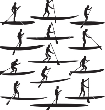 357x376 Free Sup Stand Up Paddle Boarding Vector Free Vector Download