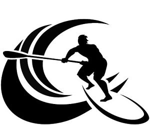 300x250 Stand Up Paddle Board Sticker Sup Surf Sticker Wave Ebay