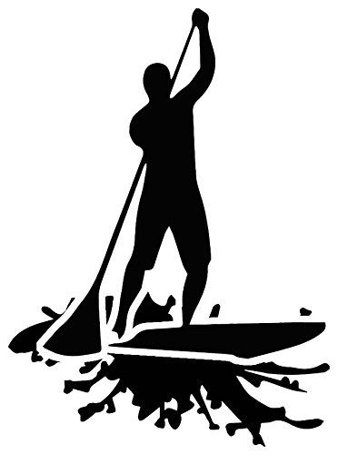 372x500 Stand Up Paddle Board Sup Decal Sticker (Black) By Nalu