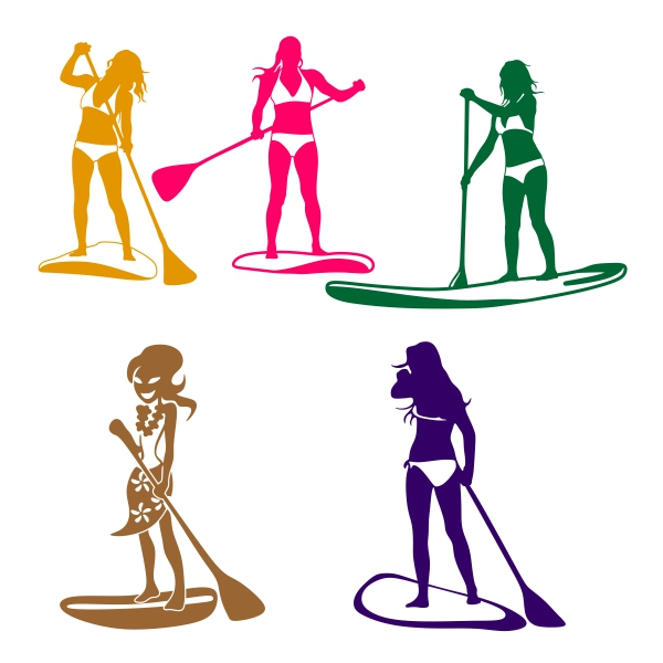 600x600 Paddleboards Sup Girl Svg Cuttable Designs