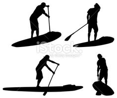 Paddle Board Silhouette At GetDrawings