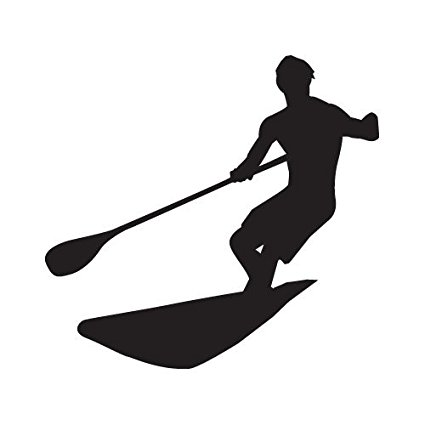 425x425 Stand Up Paddleboard (Sup) Vinyl Sticker (Black