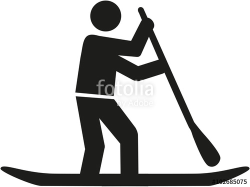 500x374 Stand Up Paddle Pictogram Stock Image And Royalty Free Vector