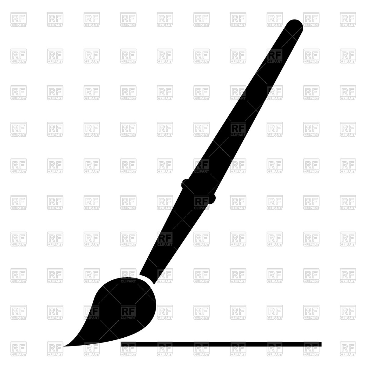 Paint Brush Silhouette Vector