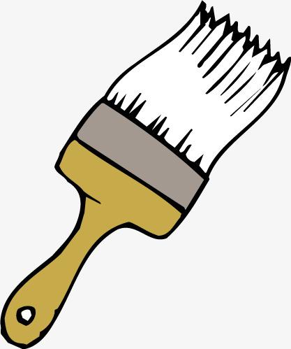 417x499 Cartoon Paint Brush Vector, Paint, Vector Cartoon, Paint Brush Png