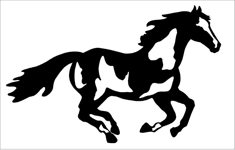752x480 Paint Horse Decal Running Customer Horse Graphics Posted By