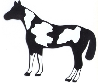 322x273 Paint Horse Automotive Amp Trailer Magnetic Silhouette