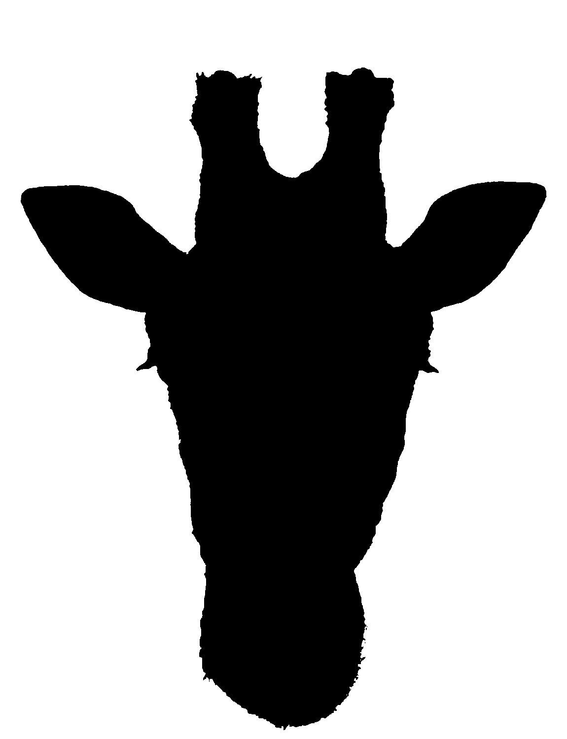 1150x1500 Giraffe Silhouette For Painting Party Tall Amp Big