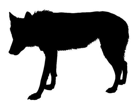 570x436 Wolf Silhouette Wall Painting Furniture Stencil By Jennastencils