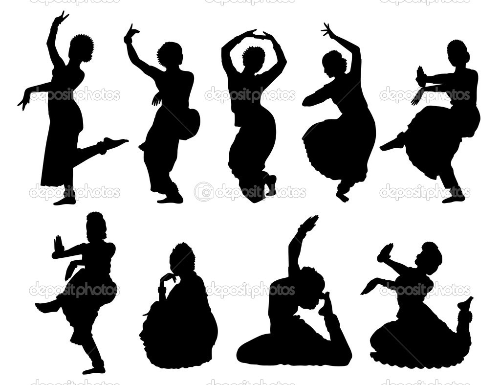 1023x787 Black Dancer Silhouettes Of Women Indian Women Dancing Stock