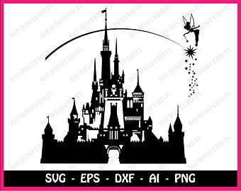 340x270 Disney Castle Svg Etsy