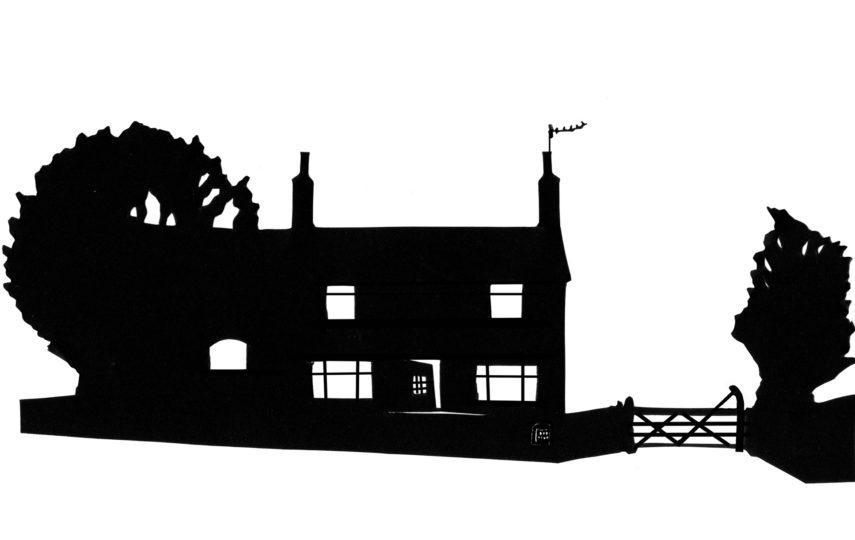 855x540 Mixed Media Silhouettes Of Buildings