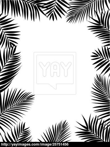 384x512 Palm Leaf Silhouette Vector