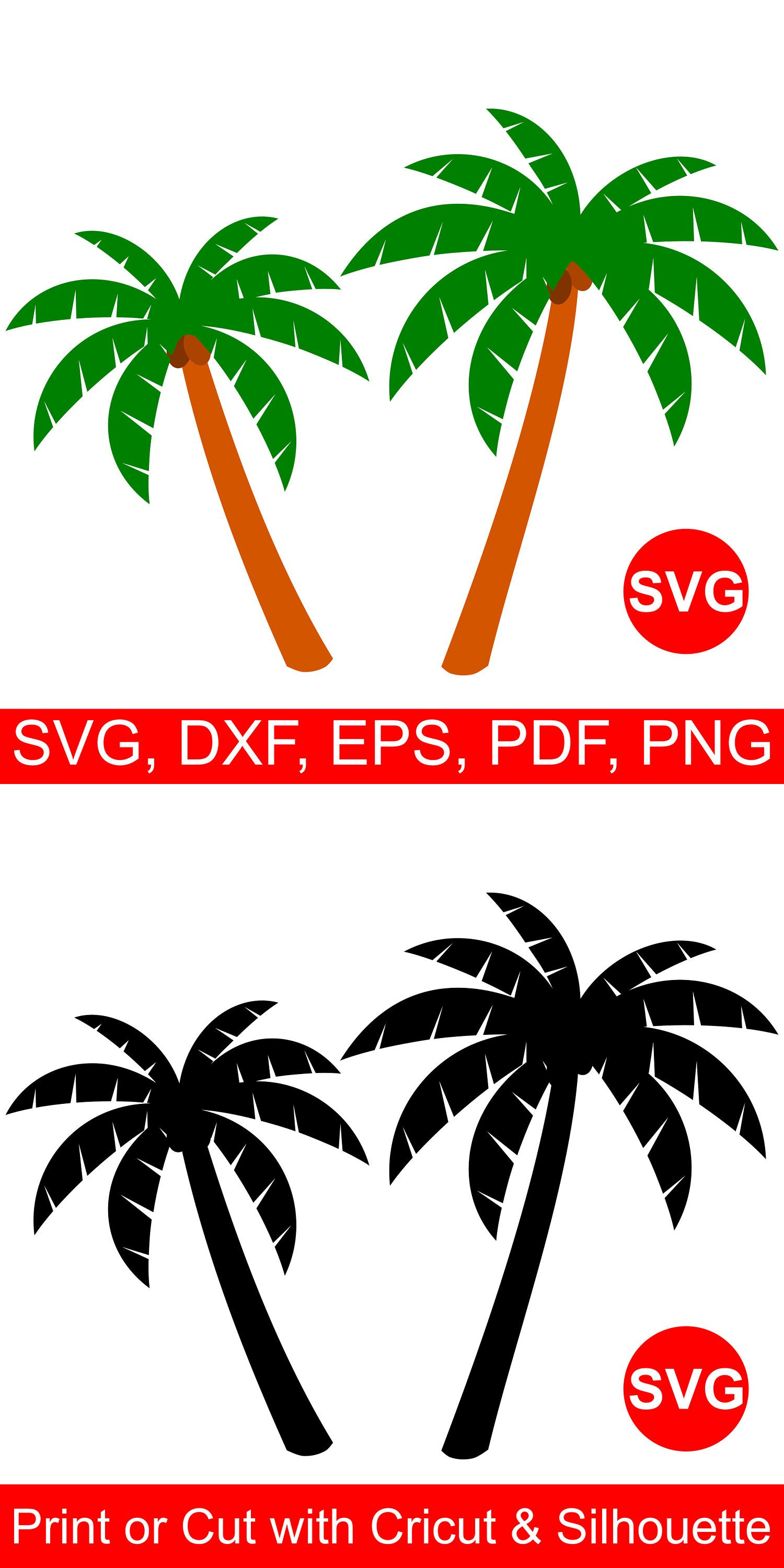 1500x3000 Palm Tree Svg Files For Cricut Amp Silhouette Tropical Svg Files