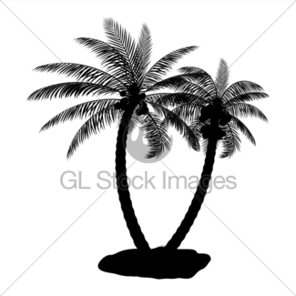 325x325 Tropical Leaves Silhouette. Jungle Leaves Set. Gl Stock Images