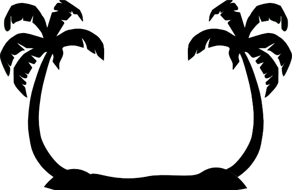 Palm Tree Clip Art Silhouette