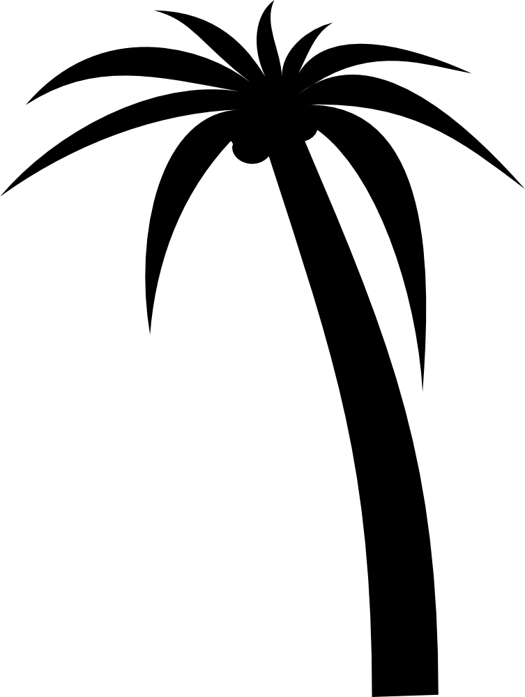 palm tree clip art silhouette at getdrawings com free for personal rh getdrawings com clipart palm tree black and white clipart palm tree black and white