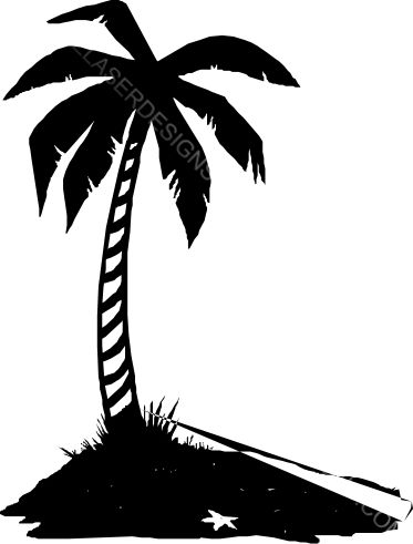373x491 Palm Tree Silhouette Ez Laser Designs