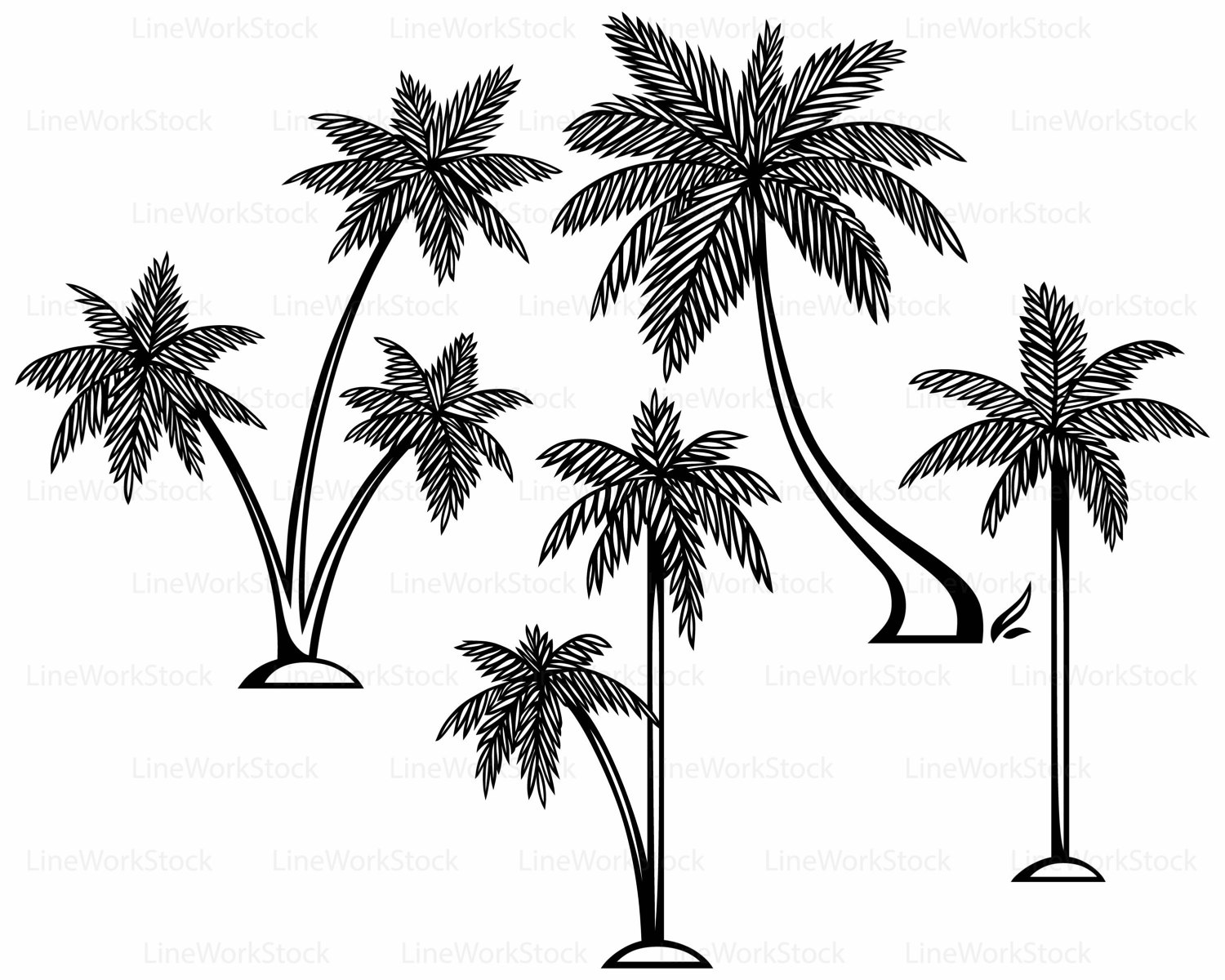 1500x1200 Palm Leaves Svg,palm Leaves Clipart,palm Svg,tree Silhouette,palm