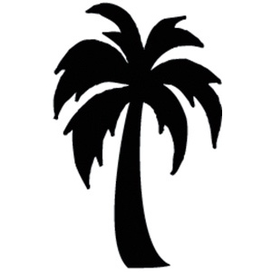 300x300 Palm Tree Silhouette Clipart Panda