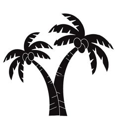 236x236 Palm Trees Die Cut Vinyl Decal Pv838 Palm, Window And Cars