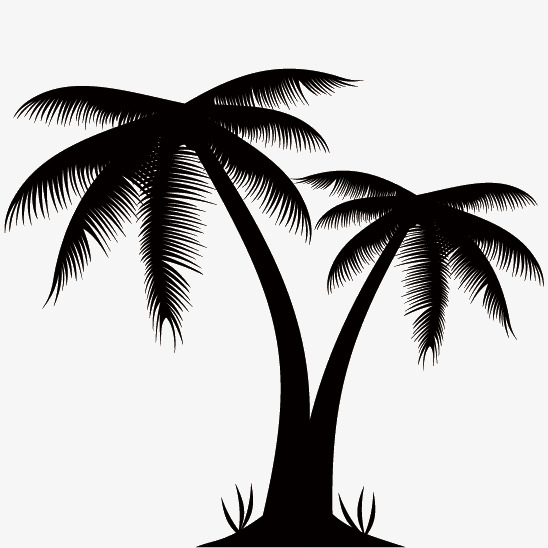 Palm Tree Silhouette Clip Art At Getdrawings Com Free For Personal