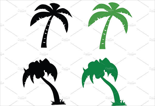 600x414 Palm Tree Silhouettes