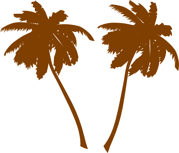 600x512 Brown Palm Trees Clip Art