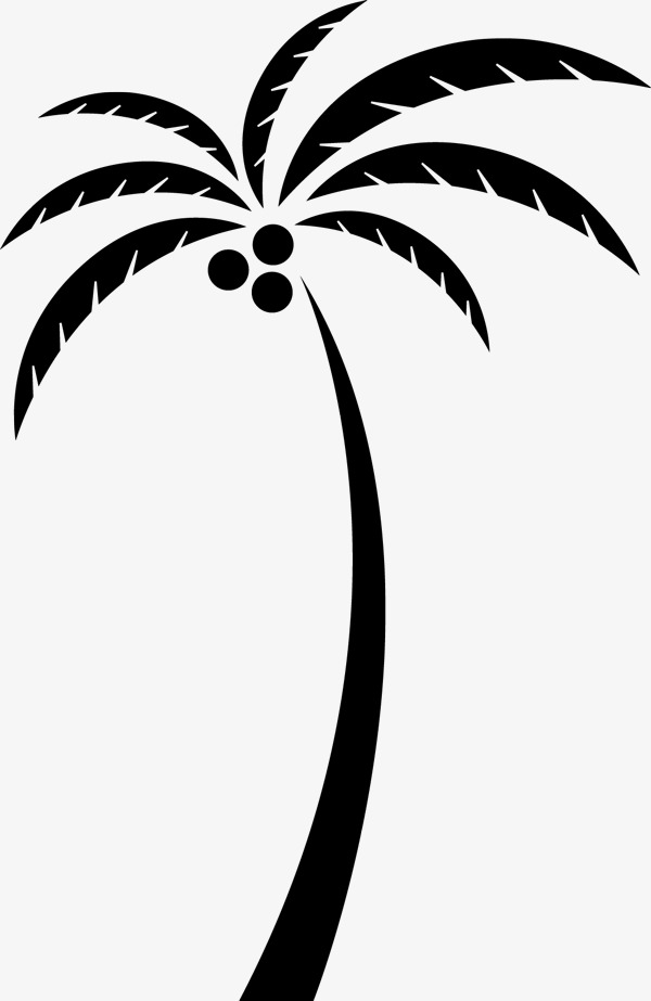 600x923 Coconut Tree Silhouette, Coconut Tree, Black Silhouette