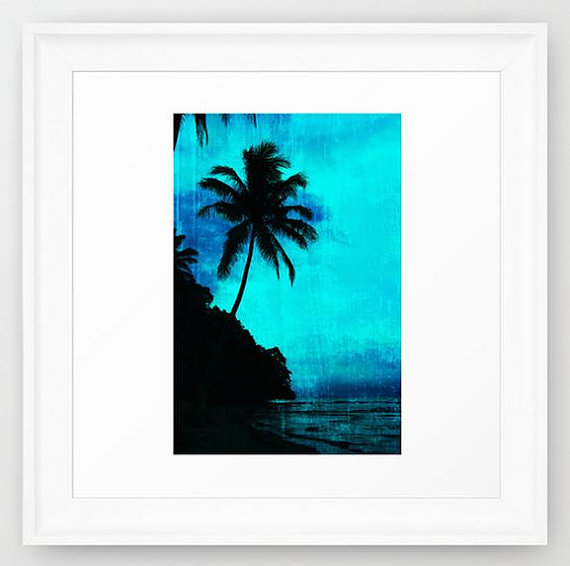 570x566 Tropical Silhouette Pillow Palm Tree Pillow Tropical Decor